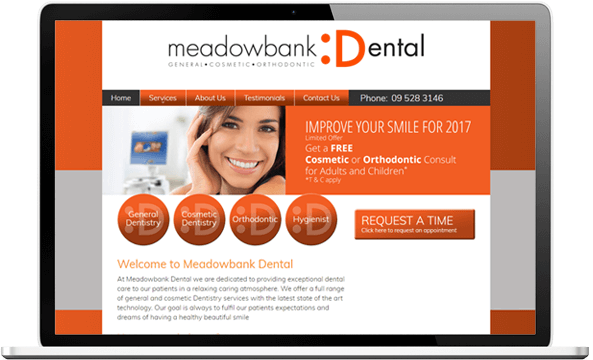 Meadowbank website before re-design
