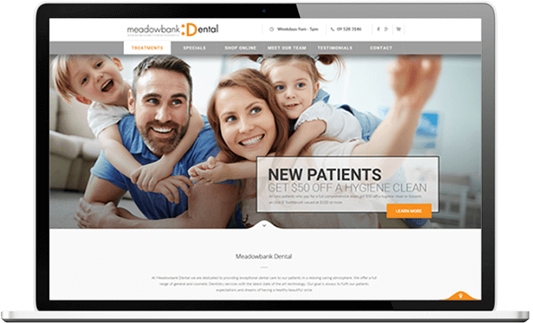 Meadowbank Dental after website re-design