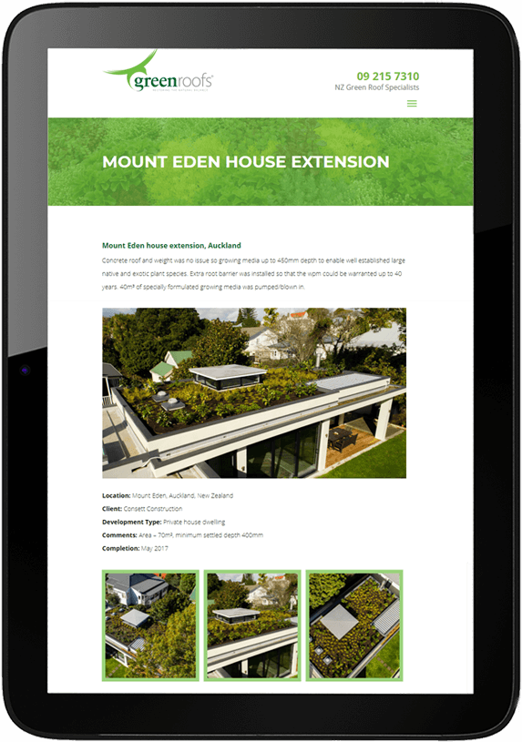 greenroofs project view in ipad - Greenroofs