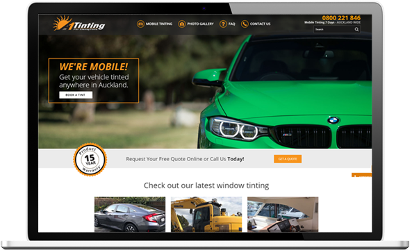 A1 Tinting after website re-design