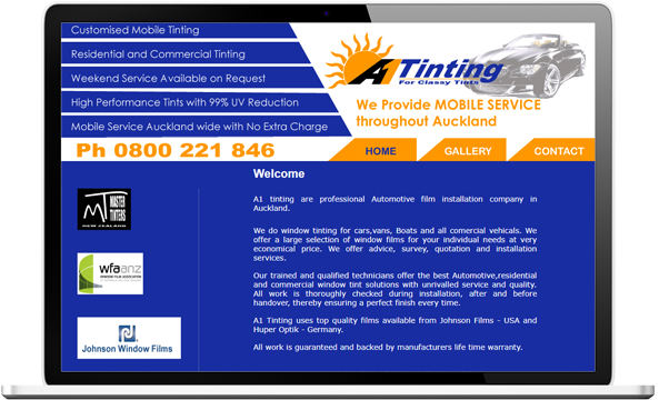 A1 Tinting before re-designing website