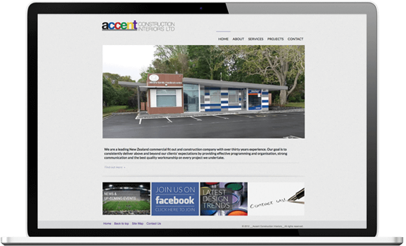 Before re-designing website for Accent Construction