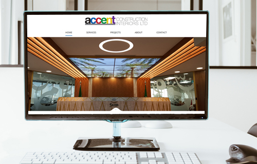 Modern new website design for ACCENT Construction