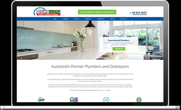 Plumbworx website design project after screenshot - Plumbworx Website Design