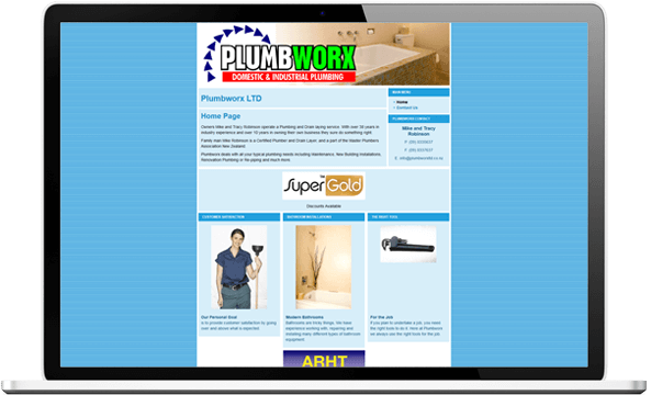 Plumbworx website design project before screenshot - Plumbworx Website Design
