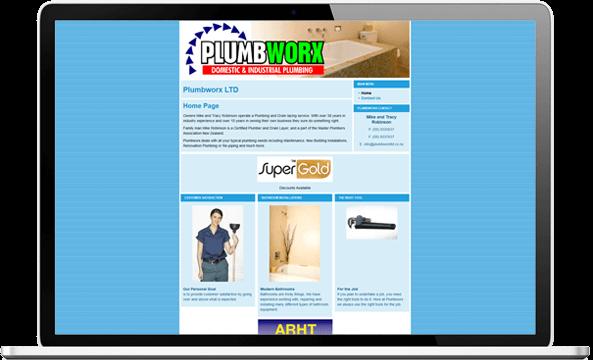 Before website re-design for Plumbworx