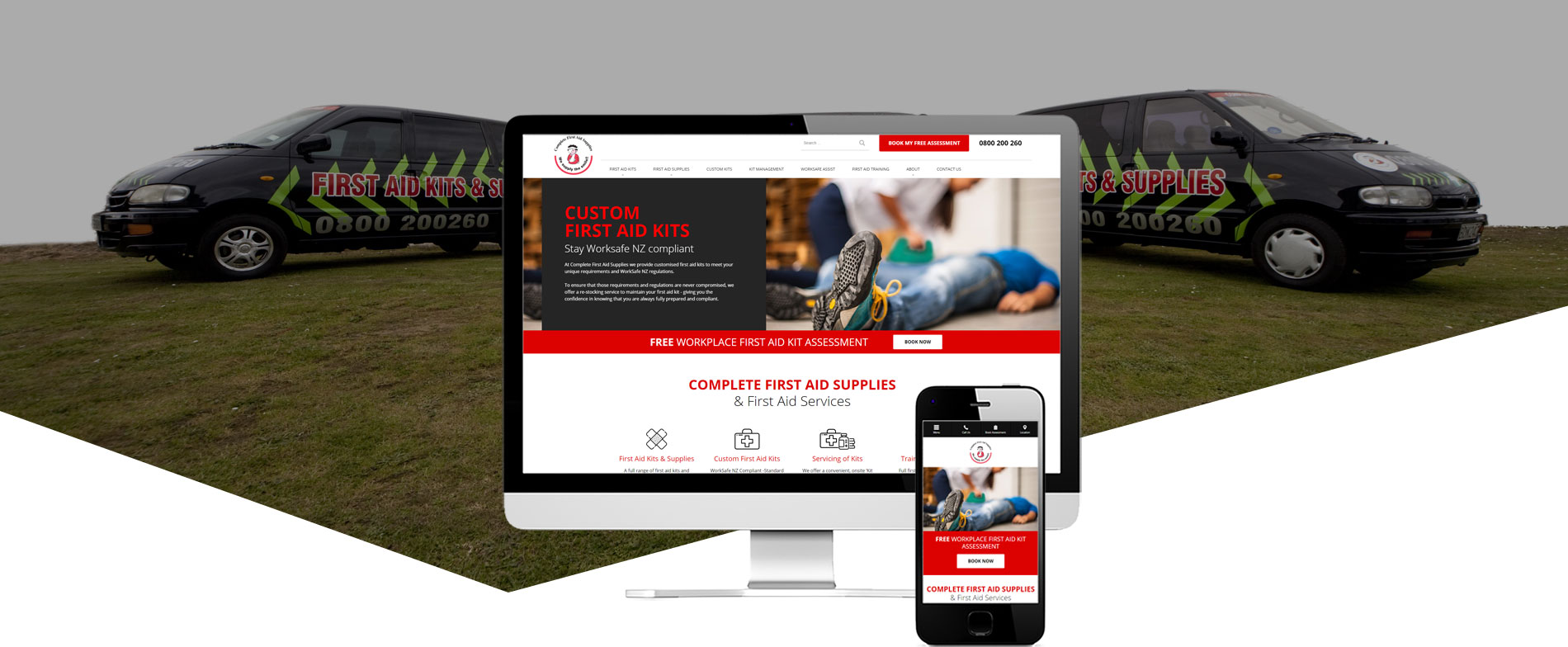 Complete First Aid project - Complete First Aid Supplies Website Re-design