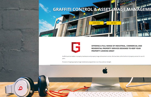 Graffiti Guard website design project thumbnail
