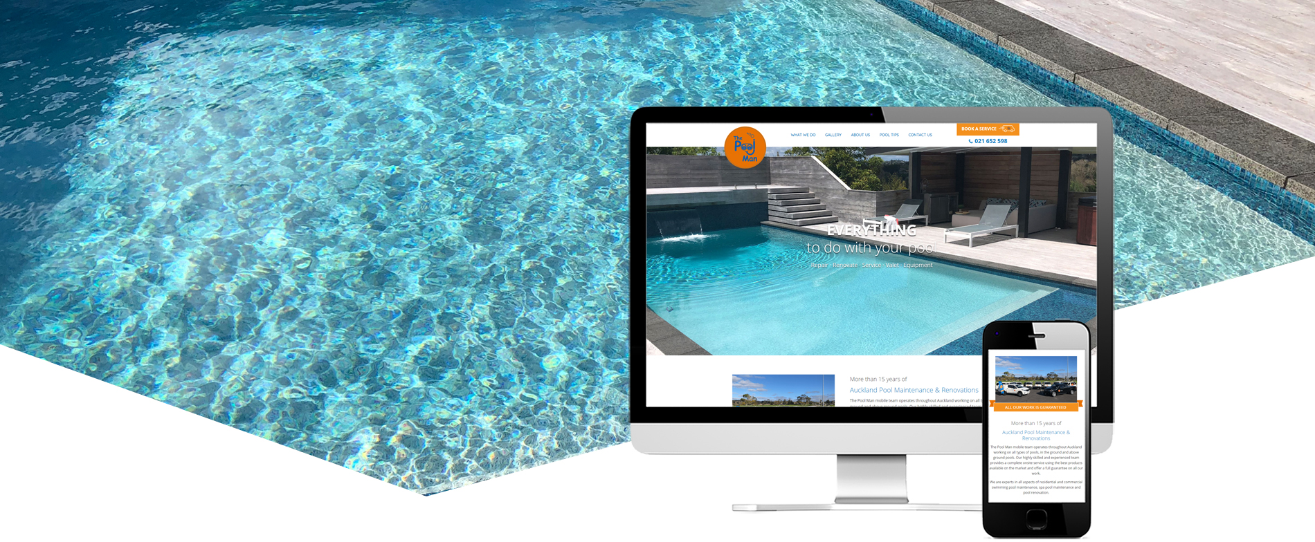 New website for the pool man