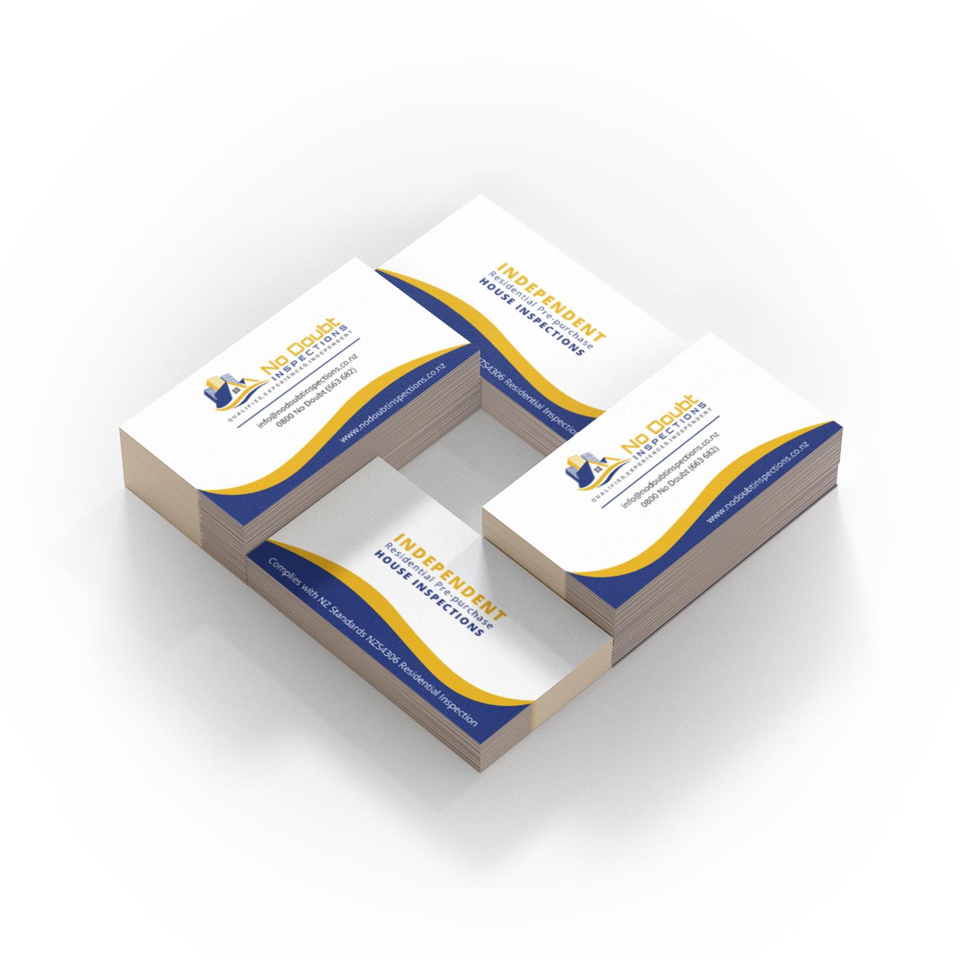 Business card design for No Doub