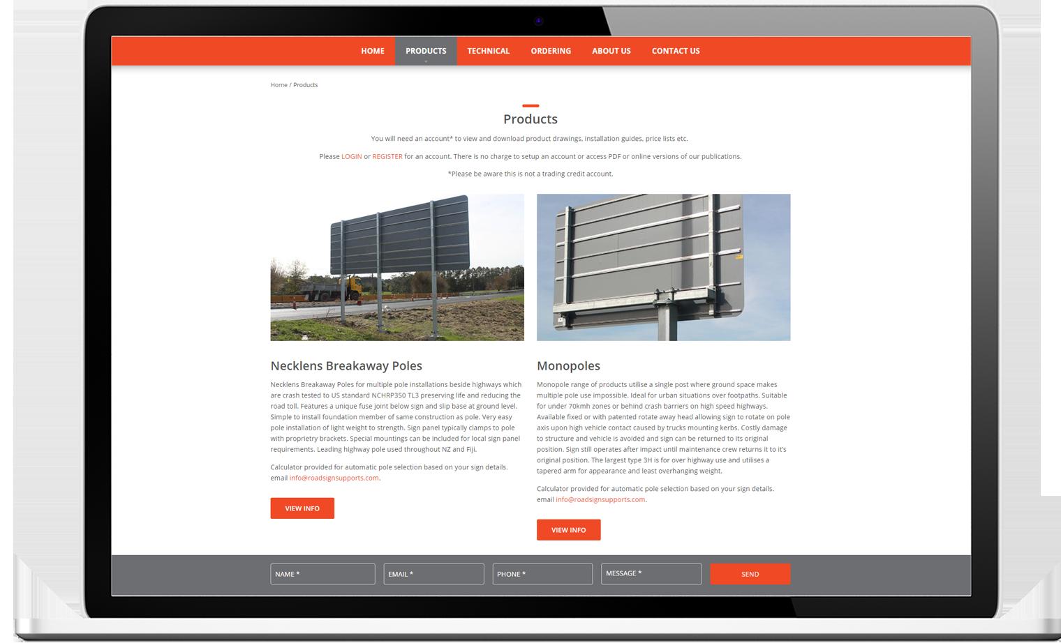 Roadsign Supports Desktop Website Design