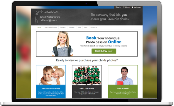 SchoolShotz website before redesign