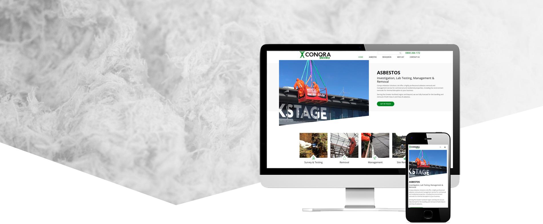 Conqra Asbestos Project Banner - Conqra Asbestos Website Design