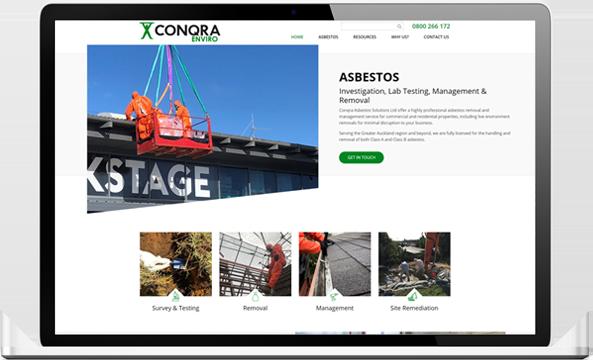 Conqra website after redesign - Conqra Asbestos Website Design