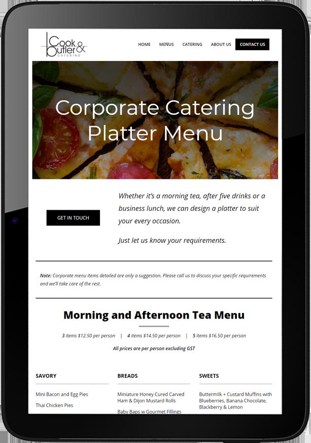 Cook and Butler Website Design Tablet - Cook & Butler Website Design and SEO