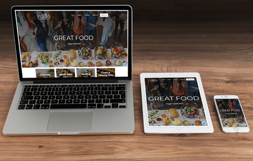 Modern responsive website for Cook and Butler Catering