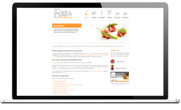 Cook and Butler website before redesign - Cook & Butler Website Design and SEO