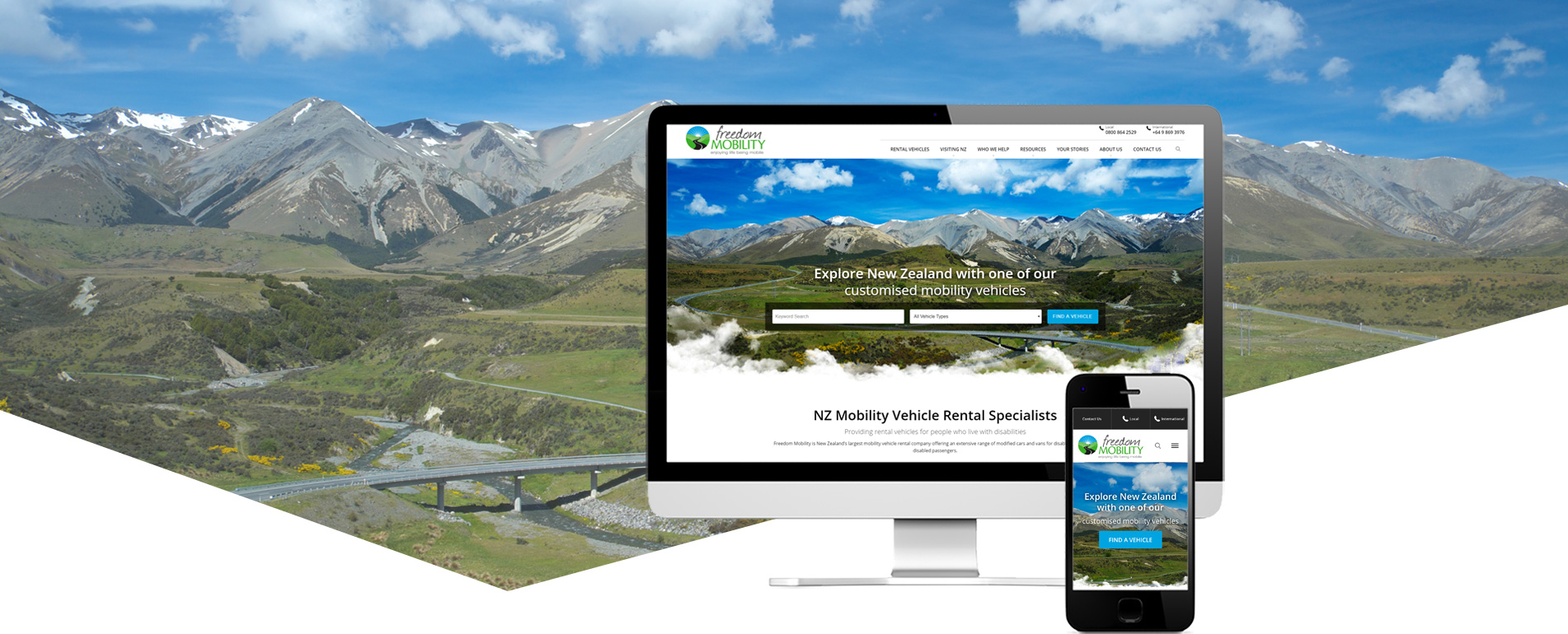 Freedom Mobility website design project banner - Freedom Mobility