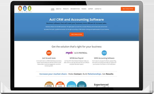 A2Z data website after redesign - A2Z Data