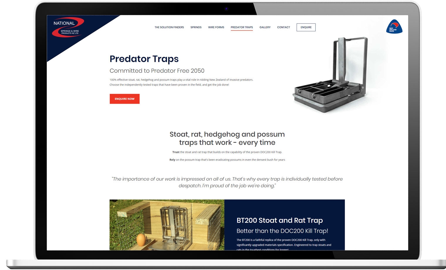 National Springs Website Re design Desktop - National Springs & Wire Products