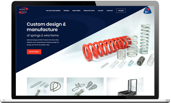 National Springs website after redesign - National Springs & Wire Products