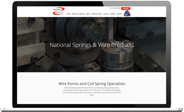 National Springs website before redesign - National Springs & Wire Products
