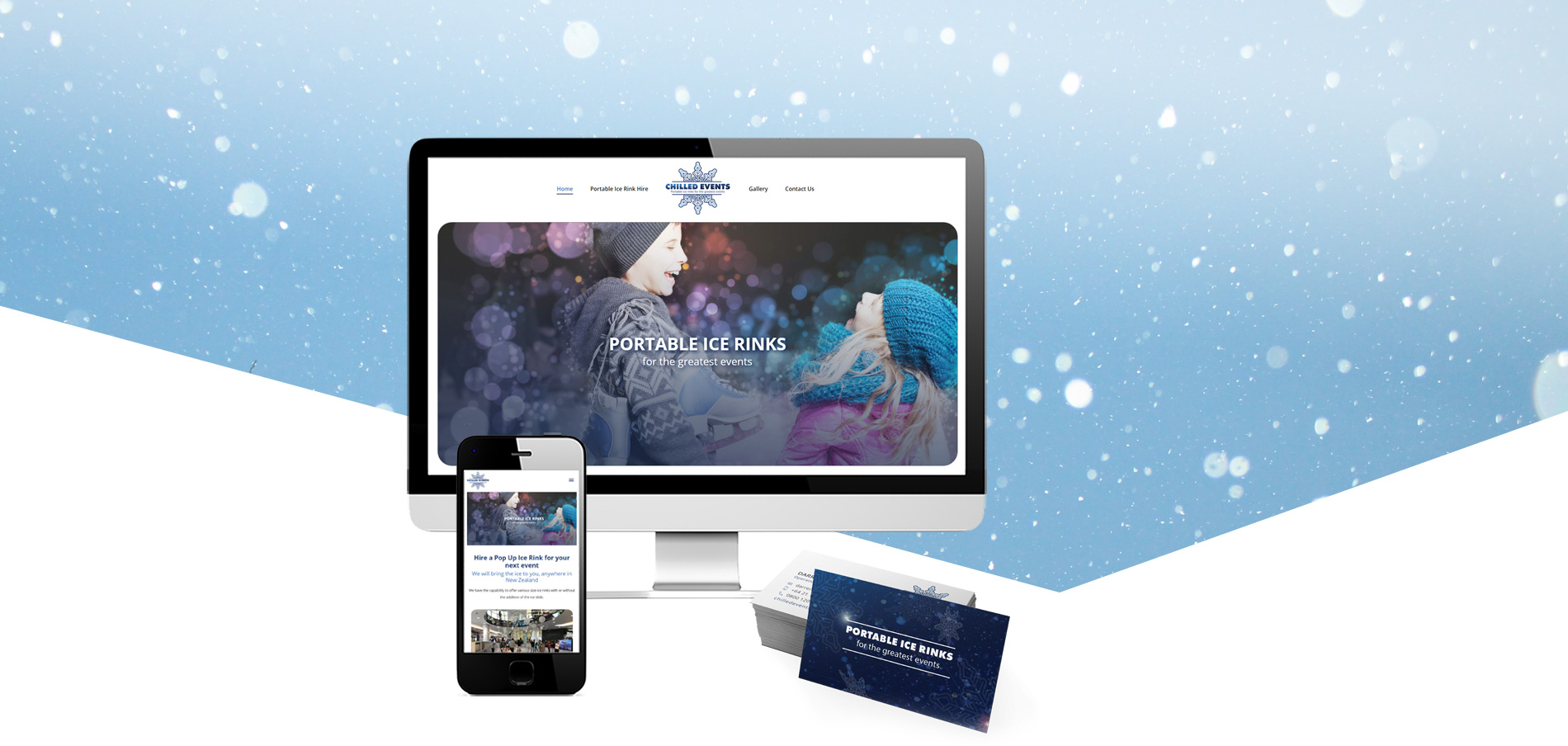 Chilled Events logo and website design Project Banner - Logo, Business Card & Website Design for Chilled Events