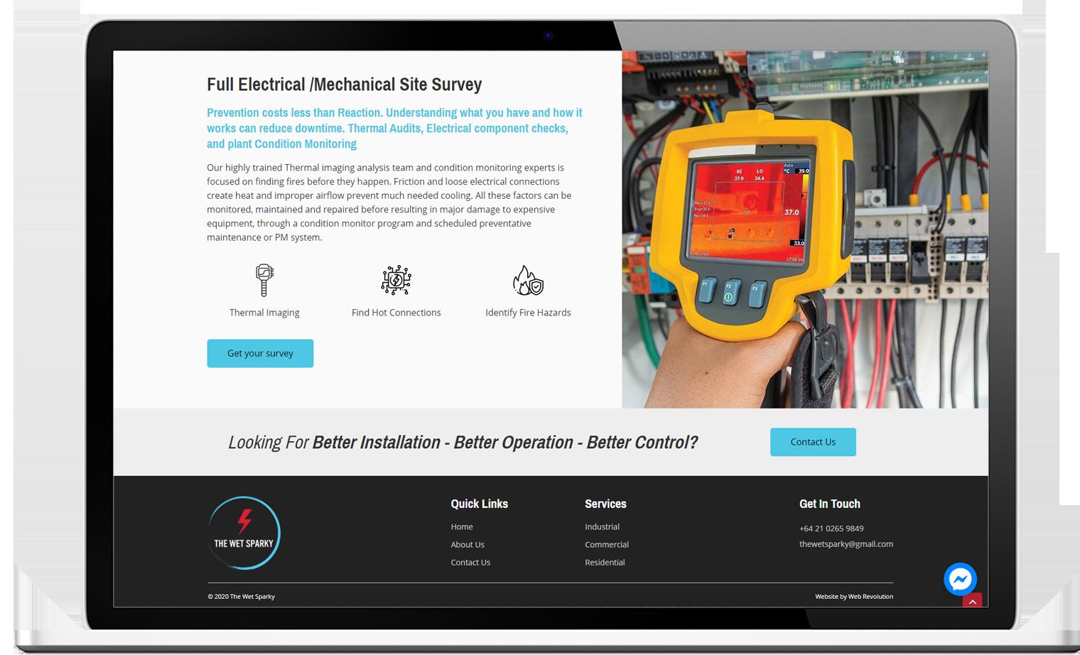 The Wet Sparky Website Re design Desktop - The Wet Sparky Website Design