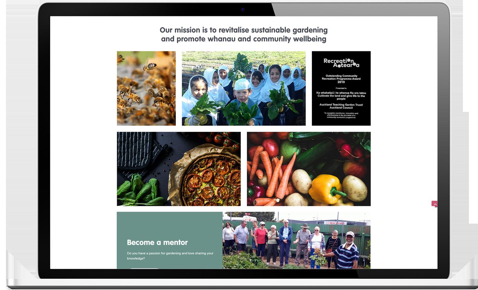 Auckland Teaching Gardens Trust Website Re design Desktop - Auckland Teaching Gardens Website Design