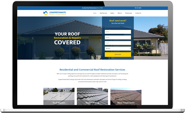 Cowperthwaite After redesign - Cowperthwaite Roof Coatings Website and logo design