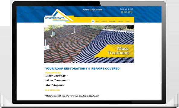 Cowperthwaite Before redesign - Cowperthwaite Roof Coatings Website and logo design