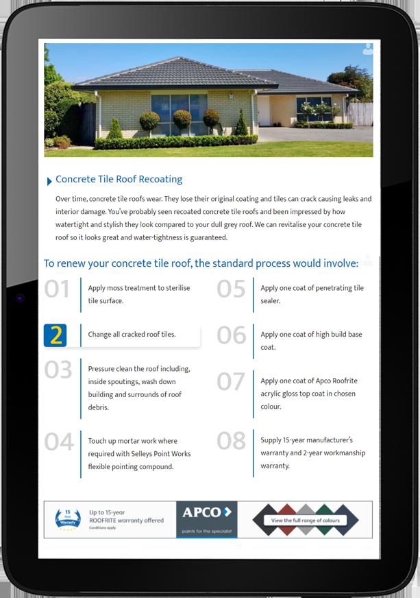 Cowperthwaite Website Design Tablet - Cowperthwaite Roof Coatings Website and logo design