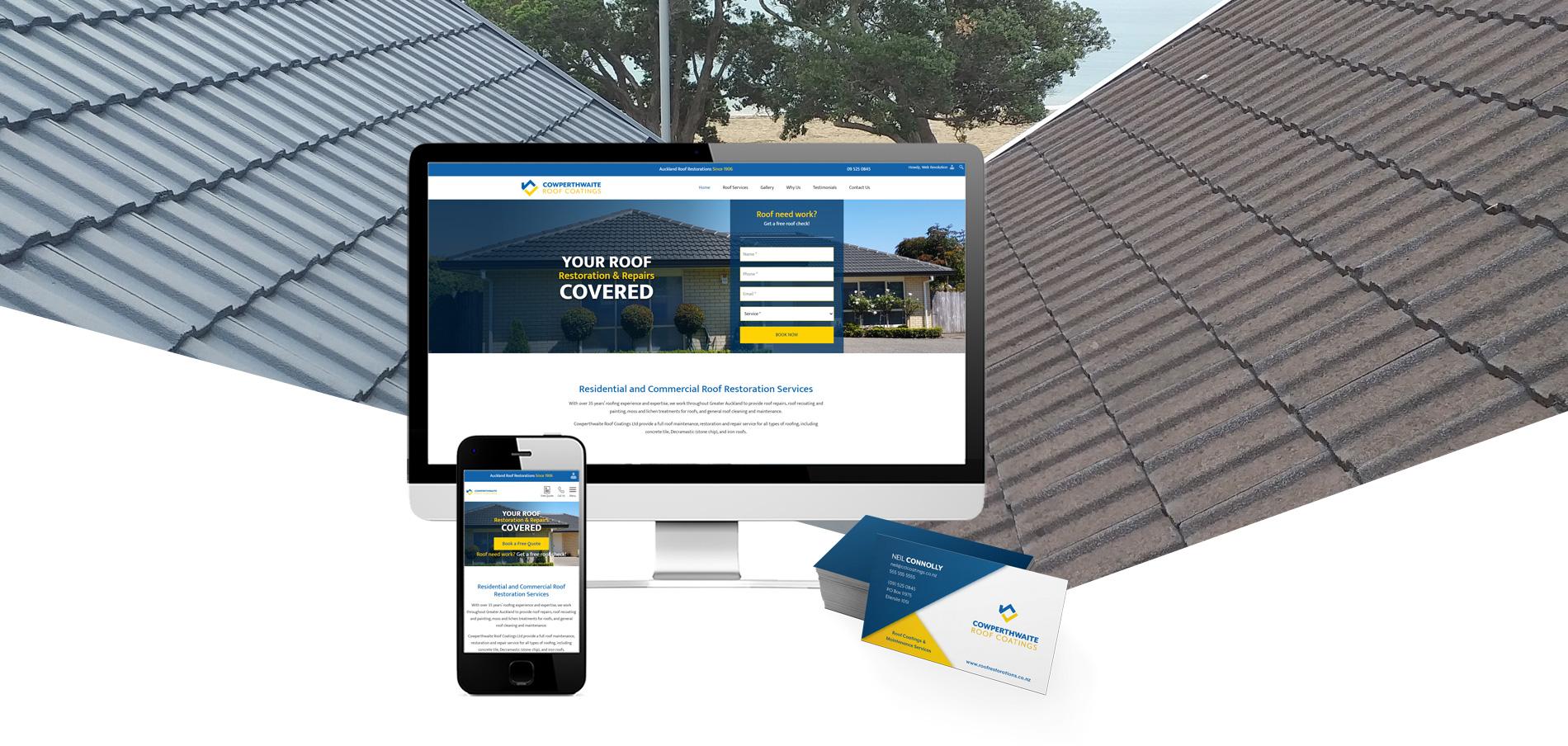 Cowperthwaite website and logo design Project Banner - Cowperthwaite Roof Coatings Website and logo design