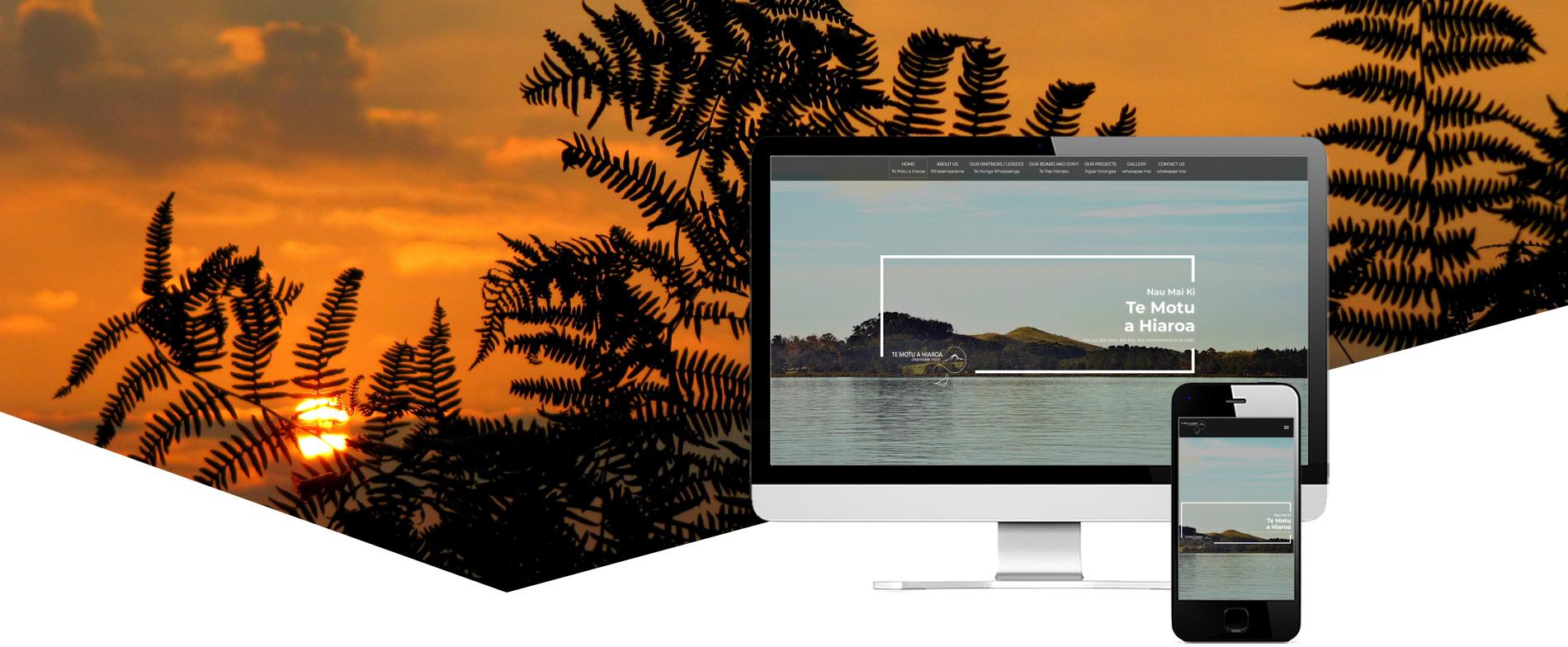 Te Motu A Hiaroa Project Banner - Te Motu a Hiaroa Website Design