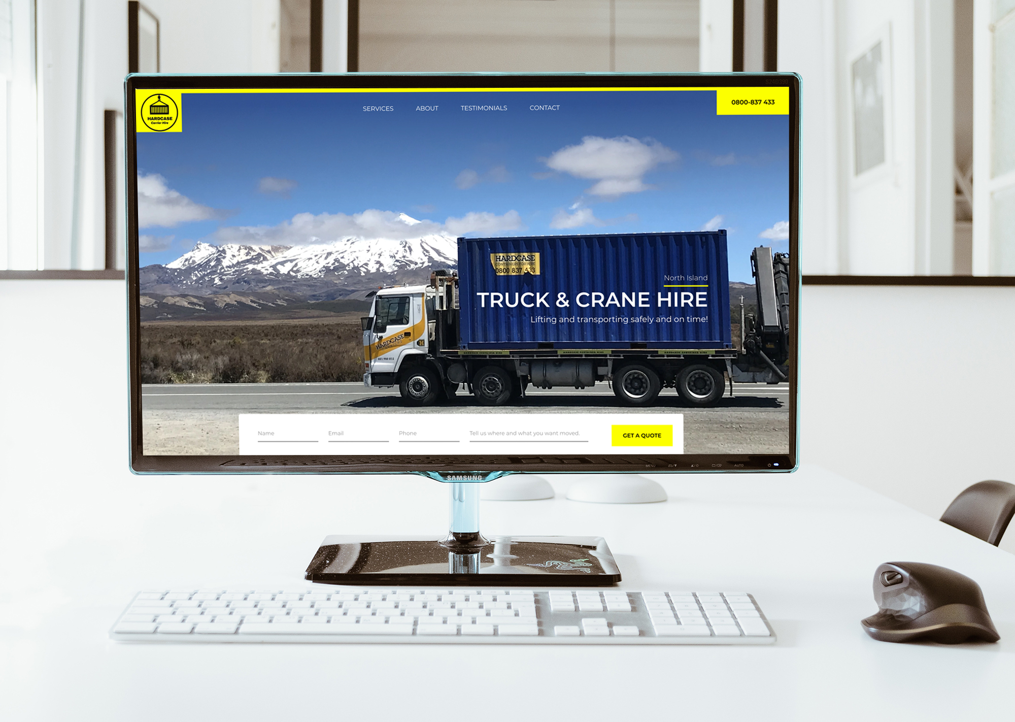Website Design Project for Truck and Crane Hire
