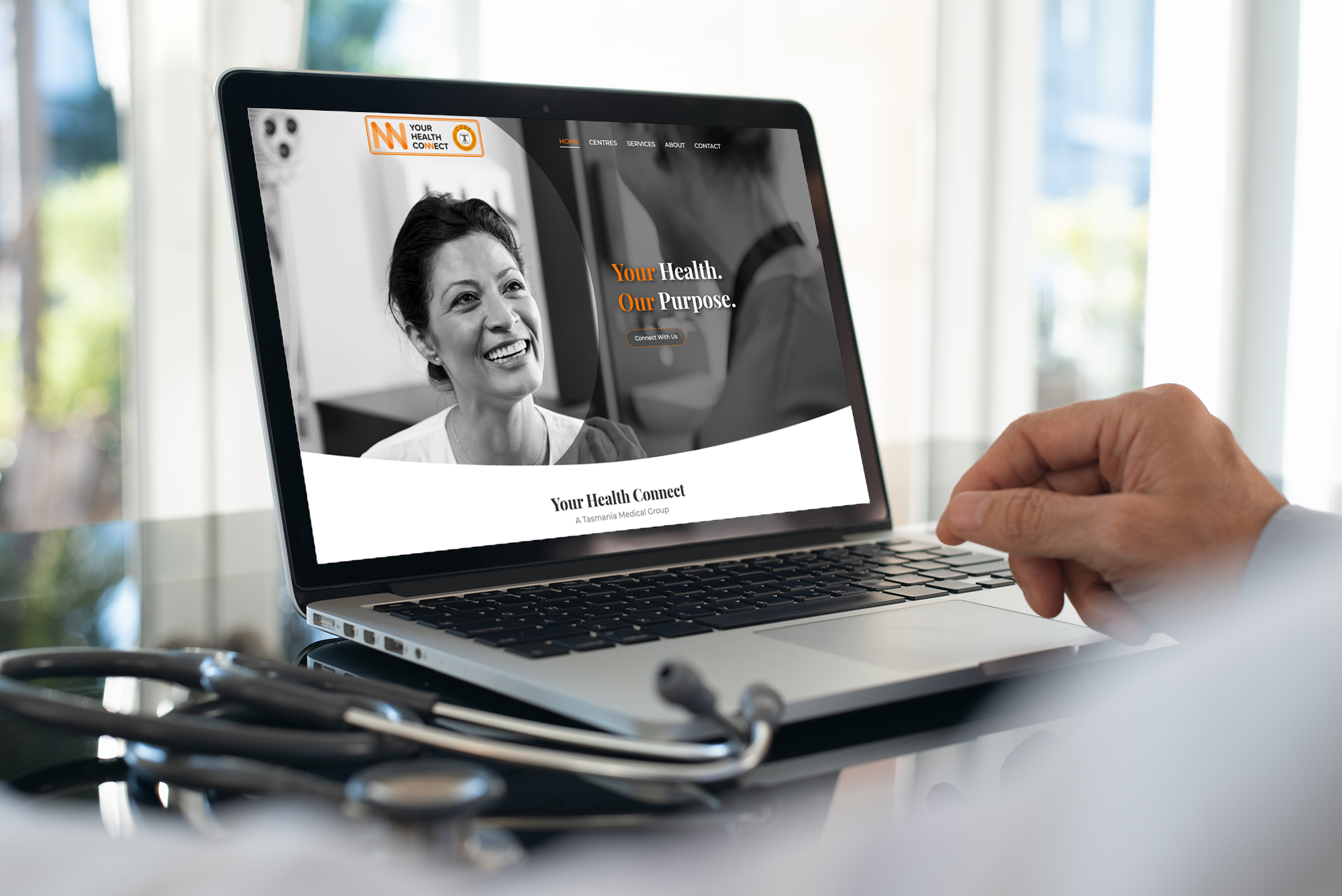 Website design for Your Health Connect-feature