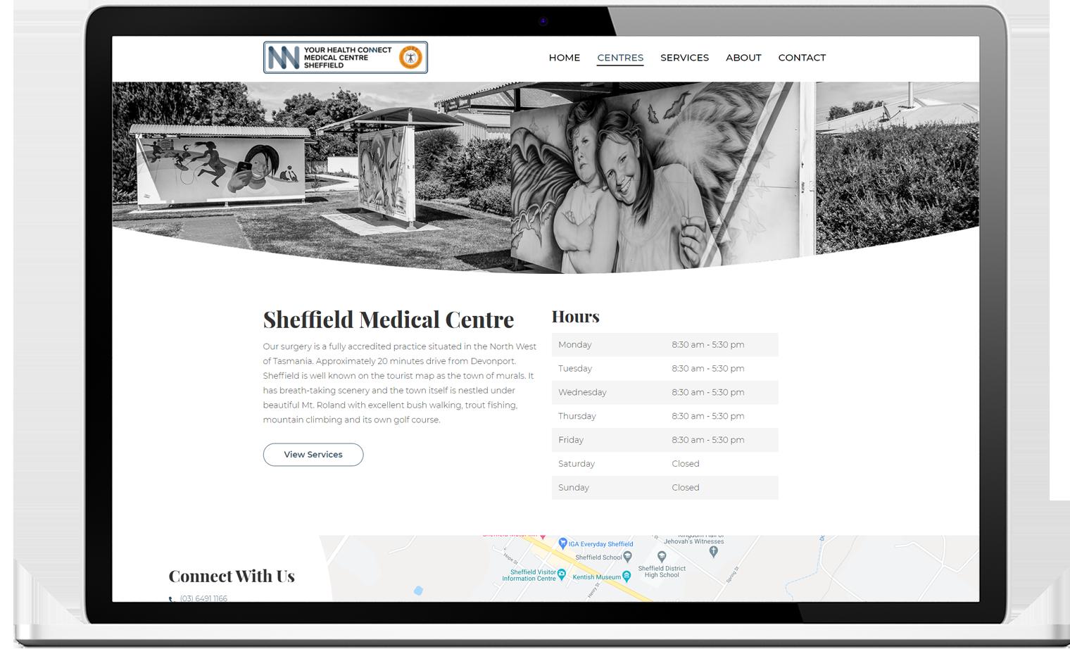 Your Health Connect website design desktop - Your Health Connect Website Design